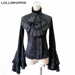 Victorian Gothic Lace Up Back Blouse