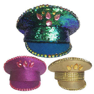 Mermaid Sequin Military Hat (3 Colors)
