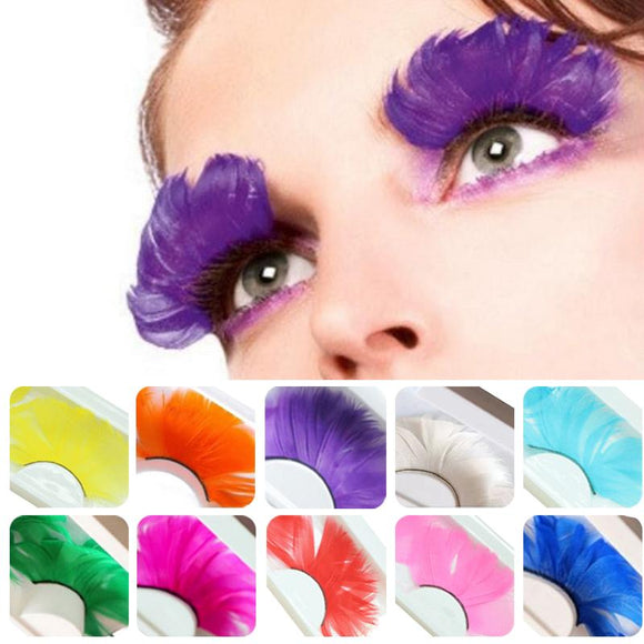 Colorful Long Eye Lash Extensions (10 Colors)