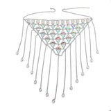 Bejeweled Crystal Rhinestone Bikini Top and Skirt