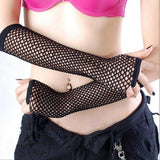 Fishnet Fingerless Arm Length Gloves