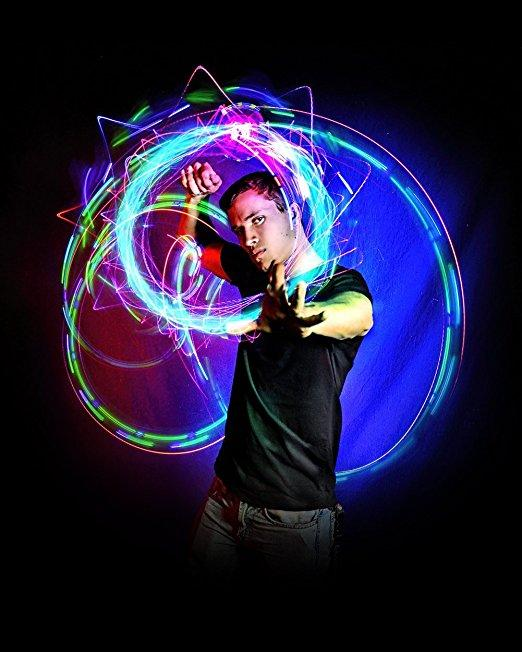Hypnotic Illuminating Spinner 4 Light LED Orbiting Hand Toy