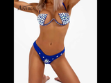Crystal Rhinestone Wired Bikini Top/Bottom Set (7 Colors)