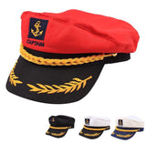 Yacht Captain's Cap (Black/Red/White)