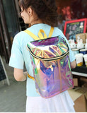 Iridescent Transparent Vinyl Backpack
