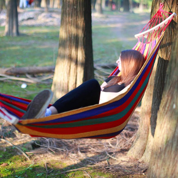 Portable Canvas Outdoor Single Hammock