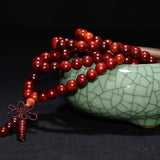 Red Willow Tibetan Sandalwood Buddhist Prayer Bead Bracelet