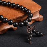 Tibetan Ebony Buddhist Prayer Bead Bracelet