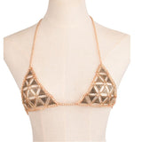 Triangle Chain Bikini Top