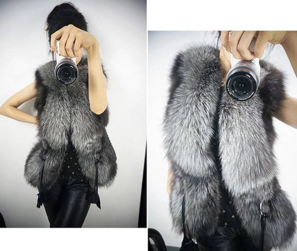 Women's Punk Fur Vest