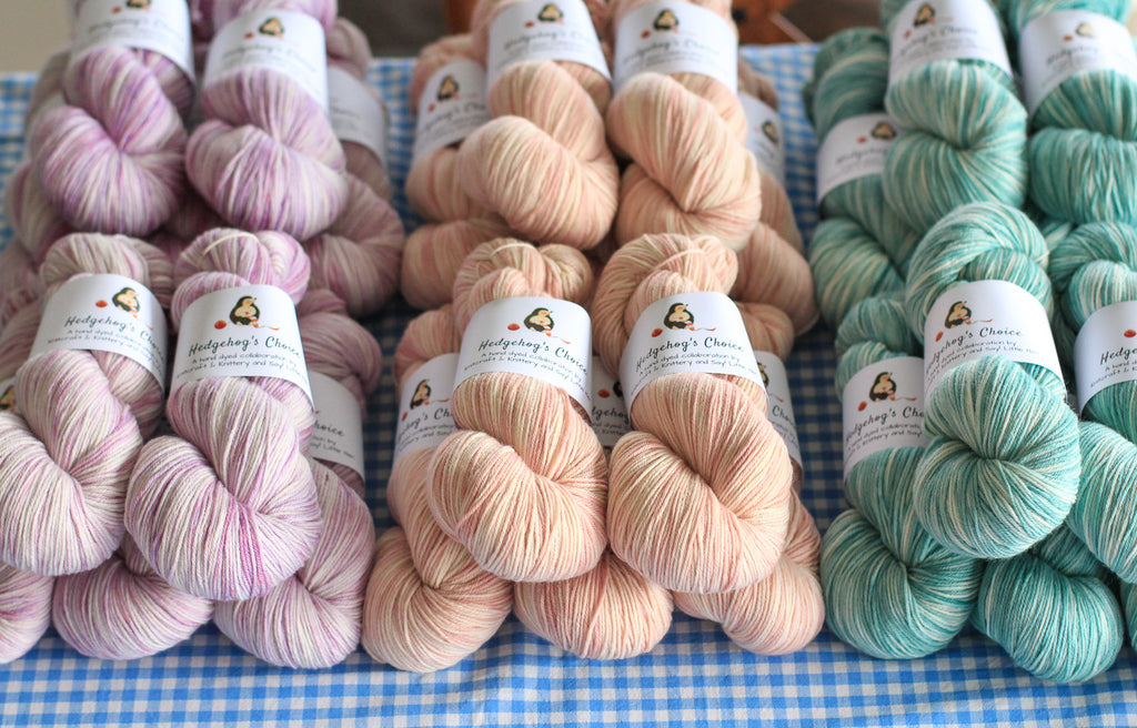 Hedgehog's Choice hand dyed yarn
