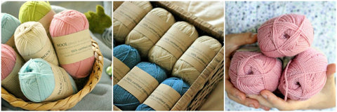 Organic sustainable Australian grown merino wool yarn
