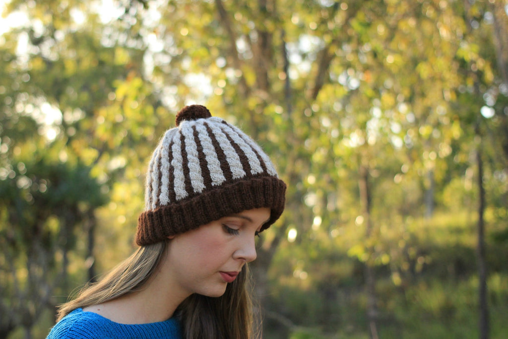 Wafer Cable Beanie Knitting Pattern | PDF Instant Download