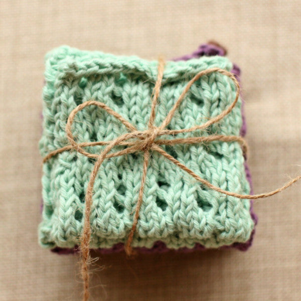 Waving Lace Washcloth | PDF Knitting Pattern