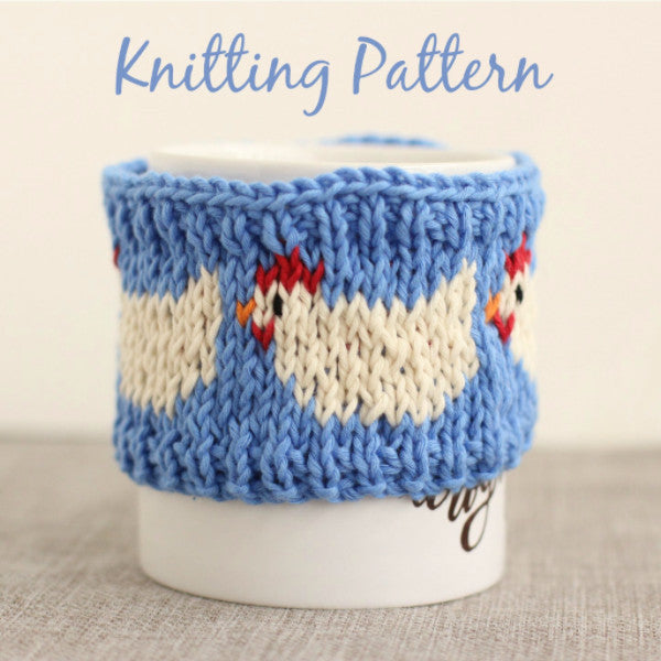 PDF Knitting Pattern - Clucking Hen Mug Cosy - Instant Download
