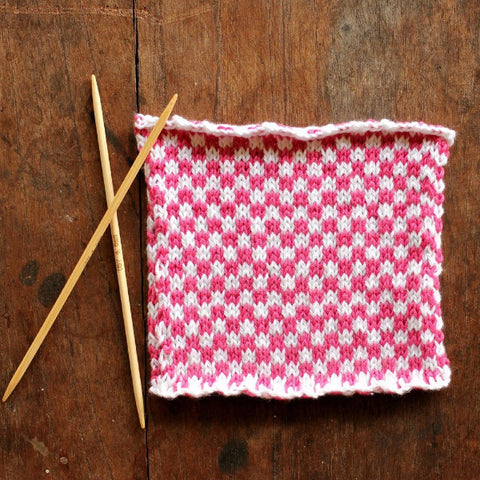 PDF Knitting Pattern - Picnic Check Square - Instant Download