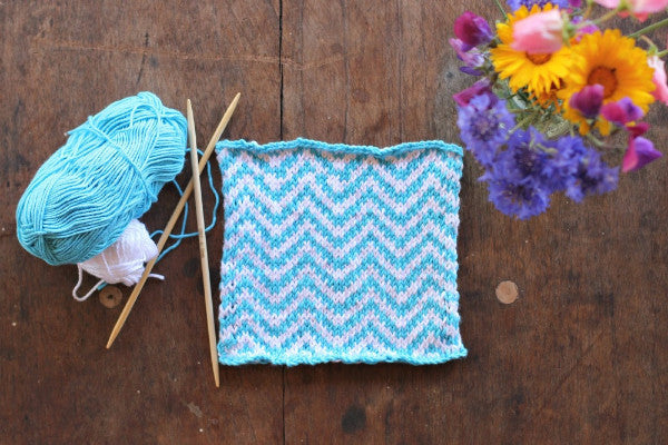 PDF Knitting Pattern - Chevron Square - Instant Download