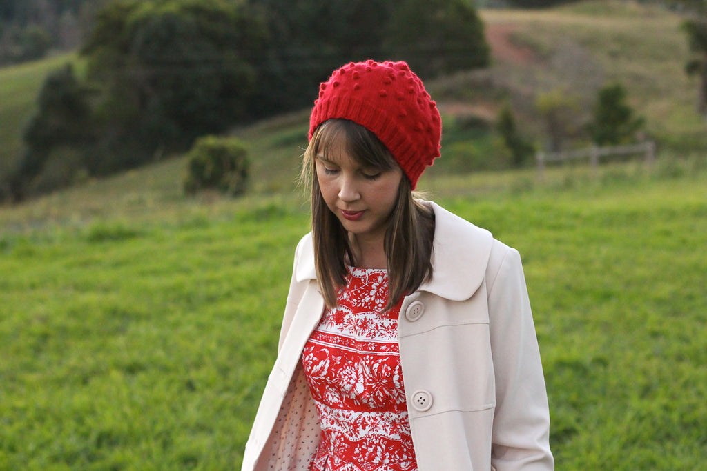 Cherry Pie Beret | PDF Knitting Pattern