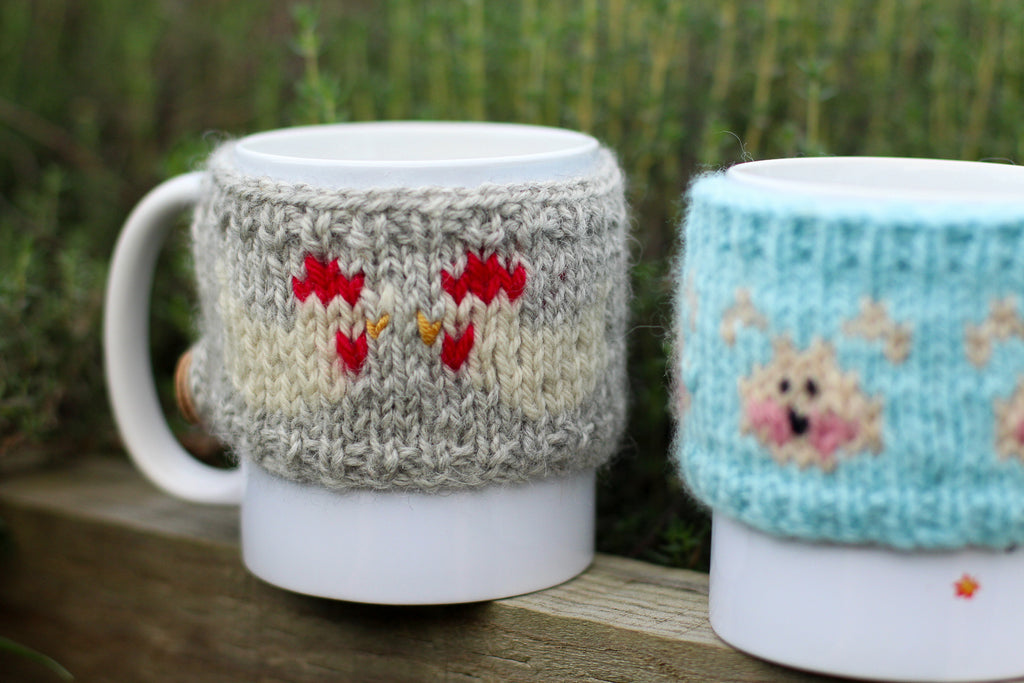 Chook Chook Mug Cosy | PDF Knitting Pattern