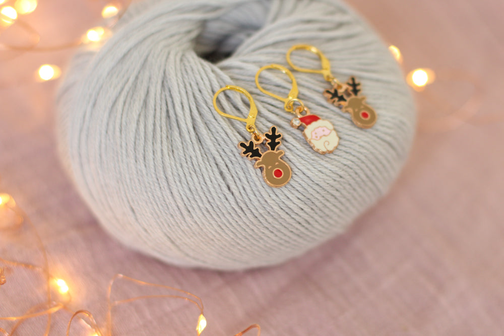 Christmas Eve Stitch Markers | Knit or Crochet