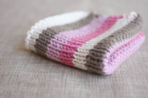 PDF Knitting Pattern - Neapolitan Ice Cream Washcloth - Instant Download