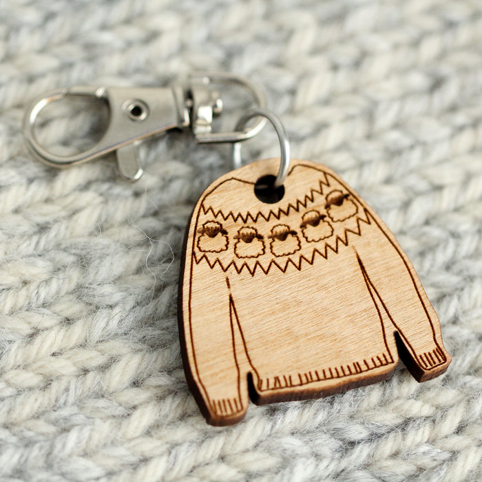 Mini Jumper Bag Charm | Flock of Sheep