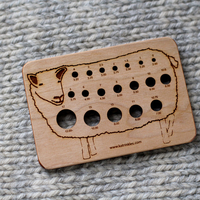 Sheep - Wooden Needle Gauge