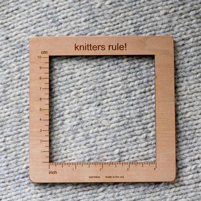 "Wooden Tension Ruler 10cm/4"" Square"