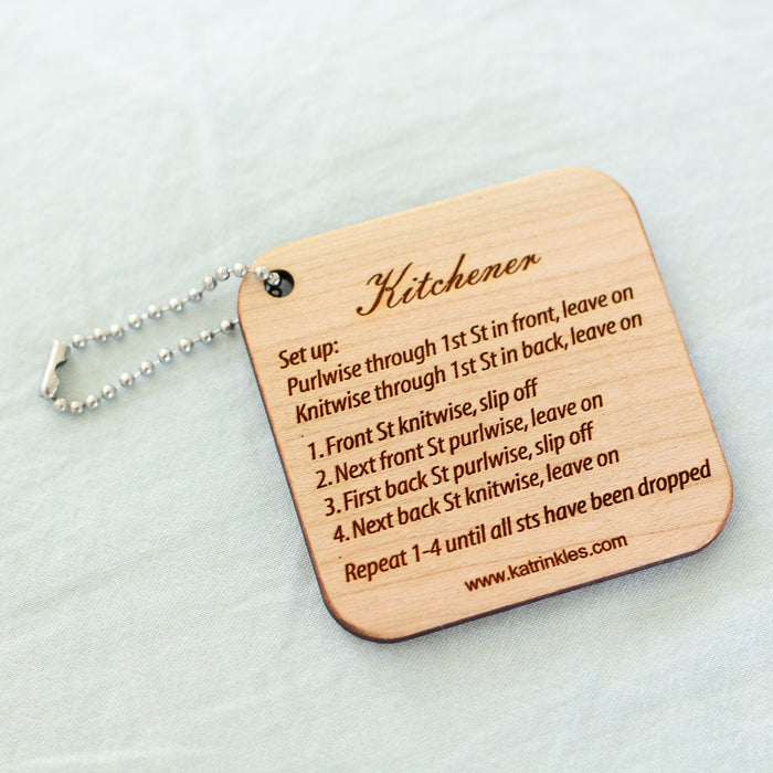 Kitchener Stitch Tool | Wooden Keychain Tool