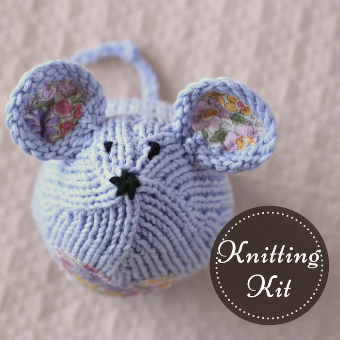 Tea Mouse Knitting Kit | Lavender