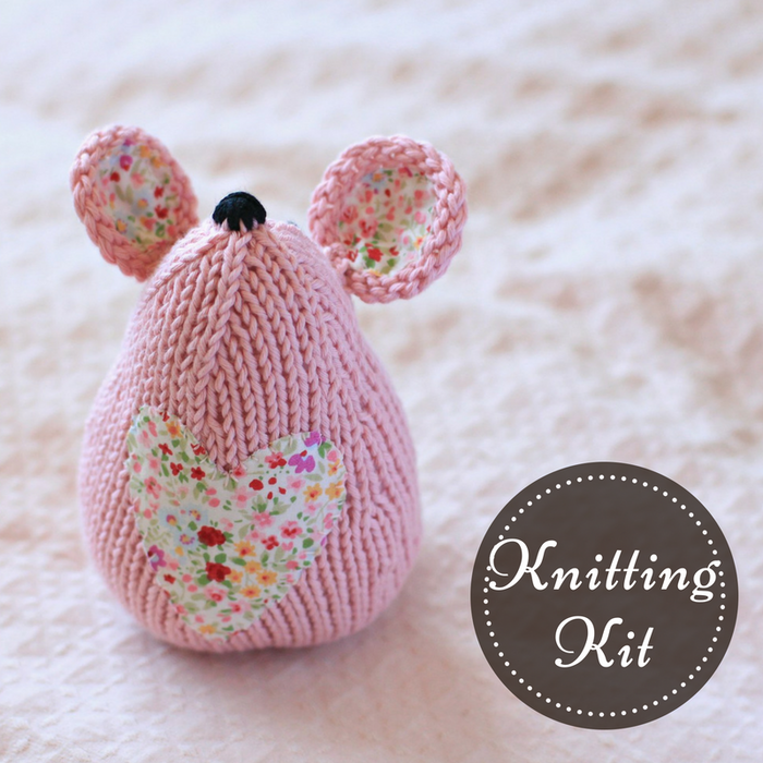 Tea Mouse Knitting Kit | Wild Rose
