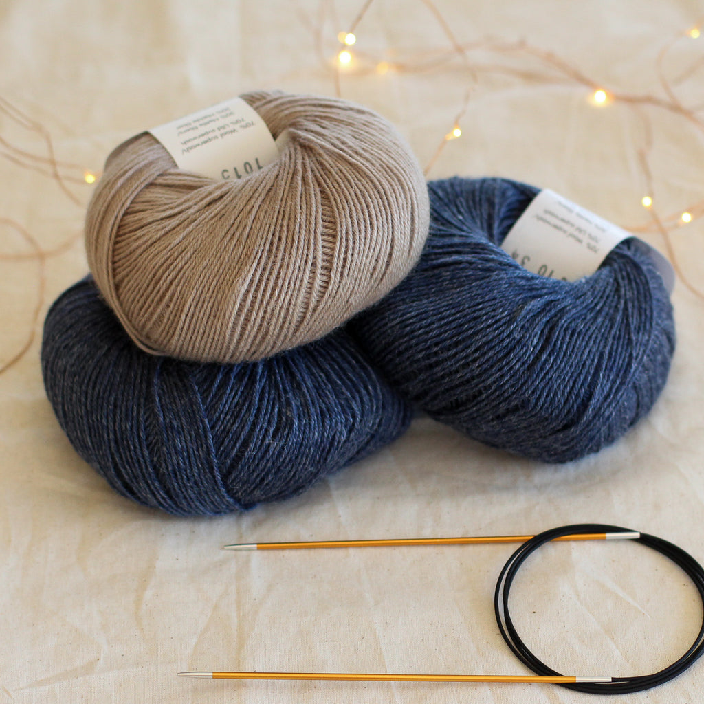 Beginner's Sock Knitting Kit | Two-Tone