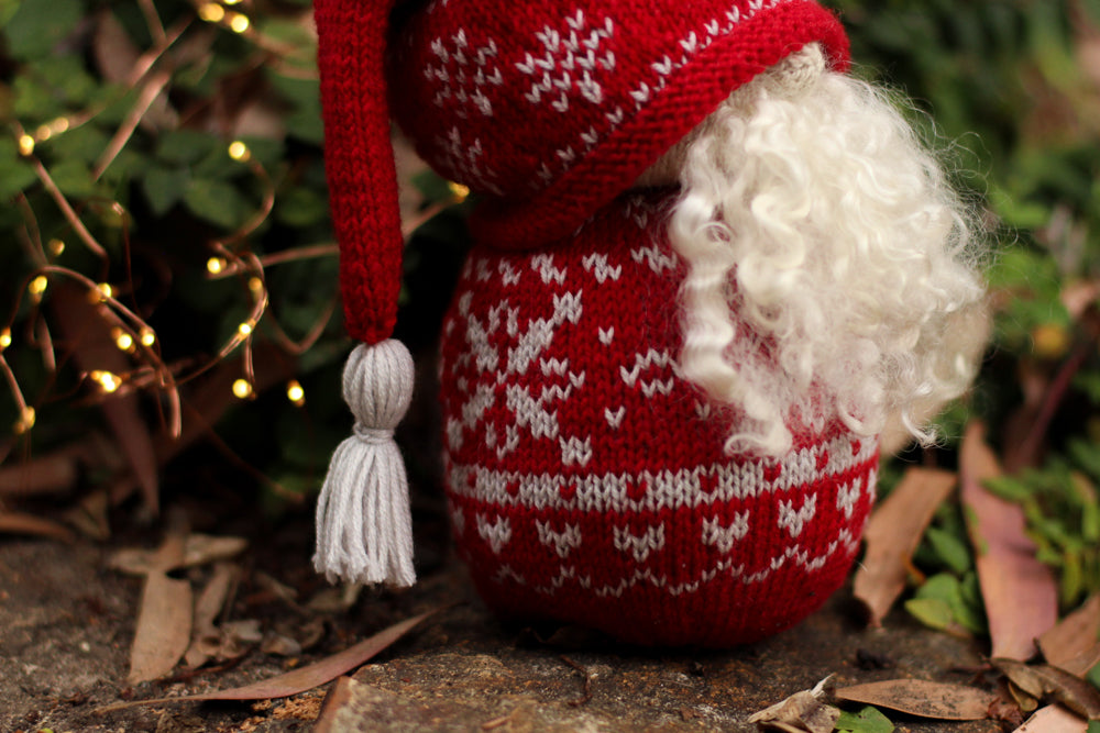 Nordic Christmas Gnome | Complete Knitting Kit