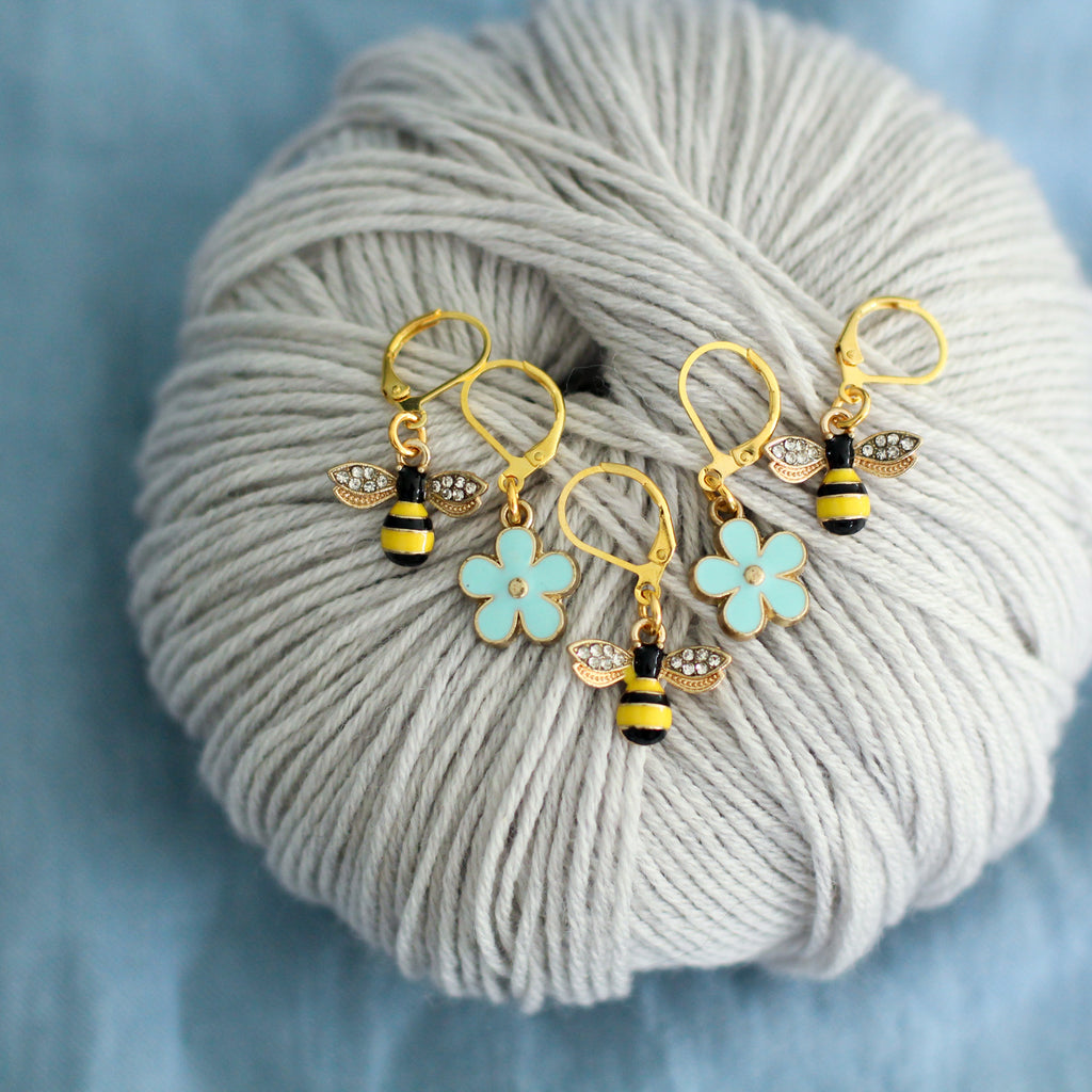 Bumble Bee Stitch Markers | Knit or Crochet