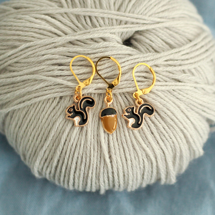 Squirrel Away Stitch Markers | Knit or Crochet