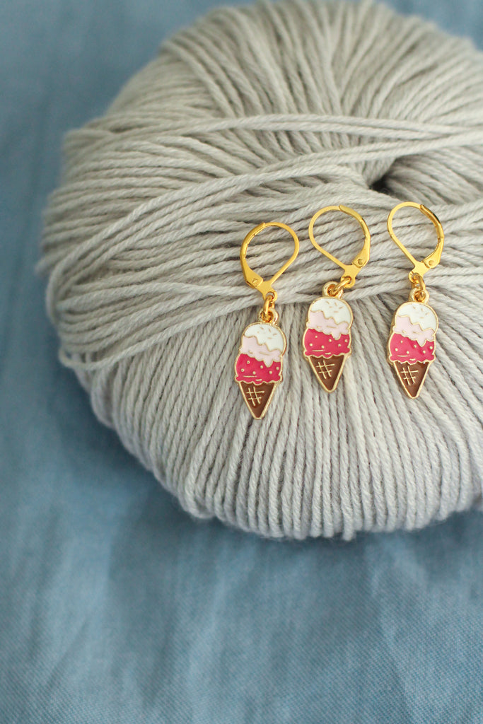 Ice Cream Stitch Markers | Knit or Crochet