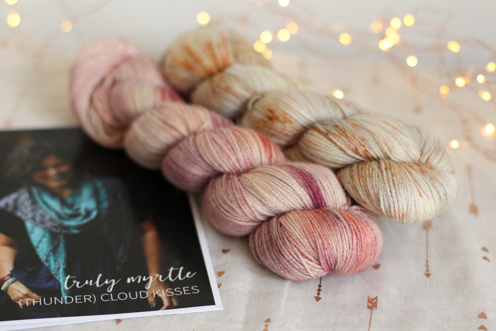 Thunder Cloud Kisses Shawl by Libby Jonson | Knitting Kit