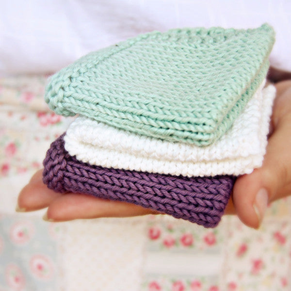 Pretty & Practical Washcloths Knitting Pattern