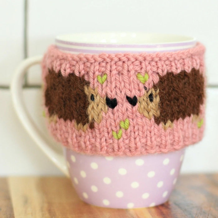 Happy Hedgehogs Mug Cosy | PDF Knitting Pattern