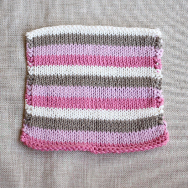Neapolitan Ice Cream Washcloth | PDF Knitting Pattern