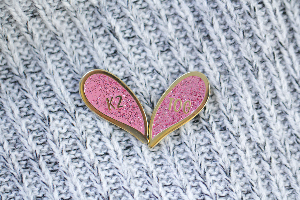 Enamel Pin - k2tog Besties Pin Set