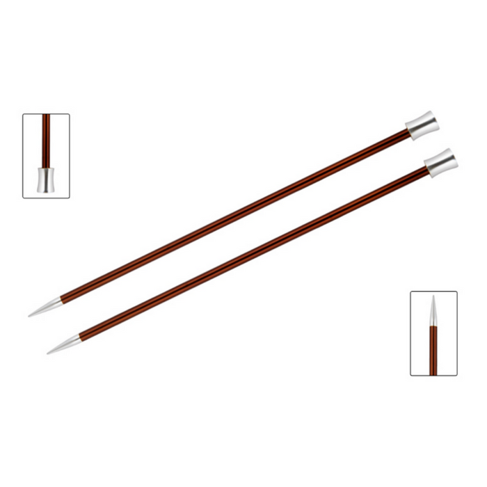 KnitPro Zing Knitting Needles | 30cm Single Point