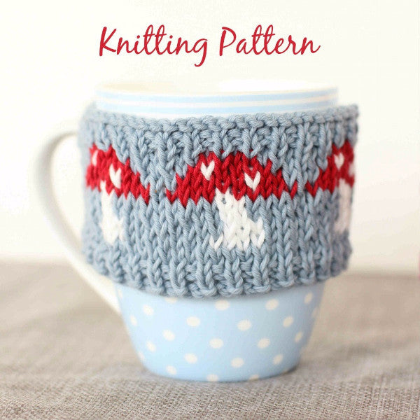 Magical Mushrooms Mug Cosy | PDF Knitting Pattern