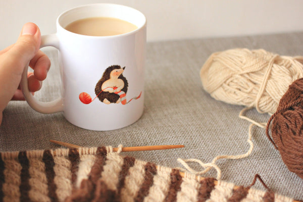 Knitting Hedgehog Quote Mug