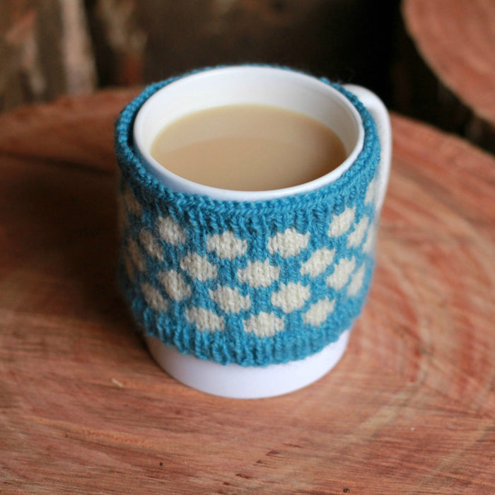 Darling Dots Mug Cosy Knitting Pattern - Instant Download