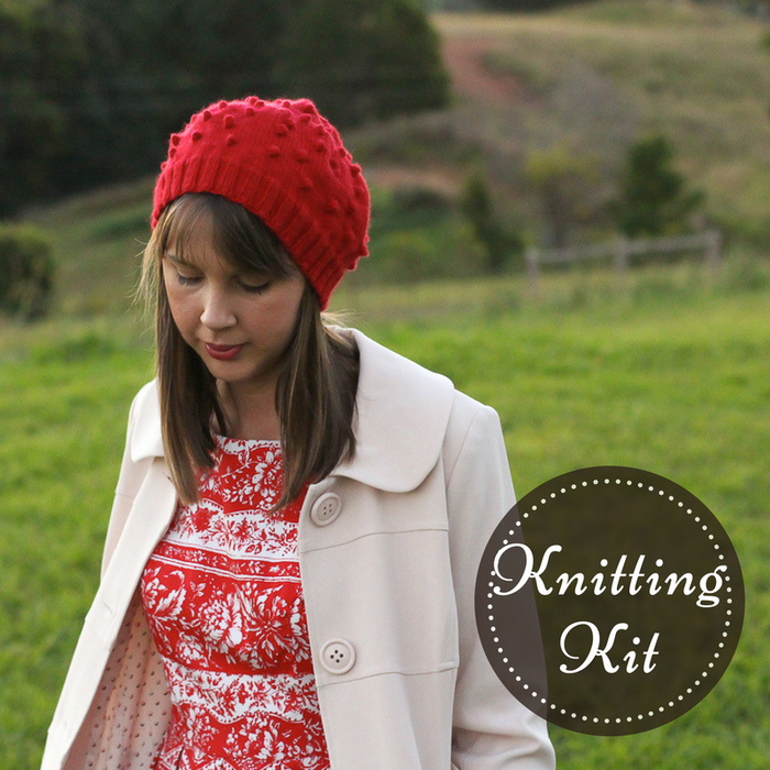 Cherry Pie Beret Knitting Kit