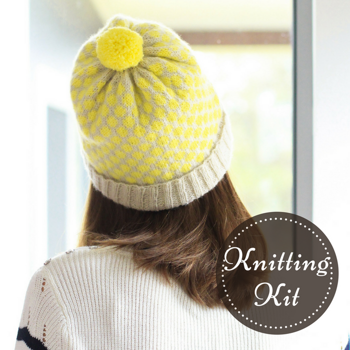 Darling Dots Beanie Knitting Kit