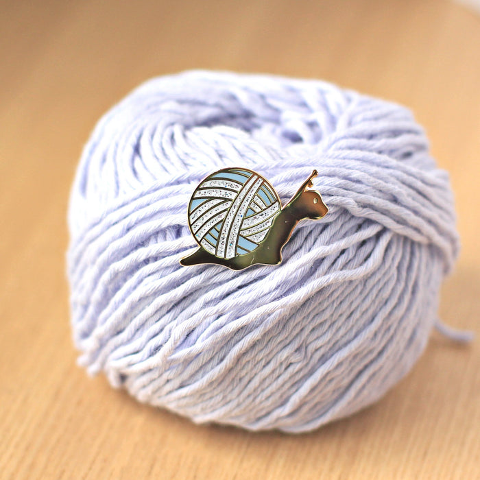 Enamel Pin - Slow Knitter