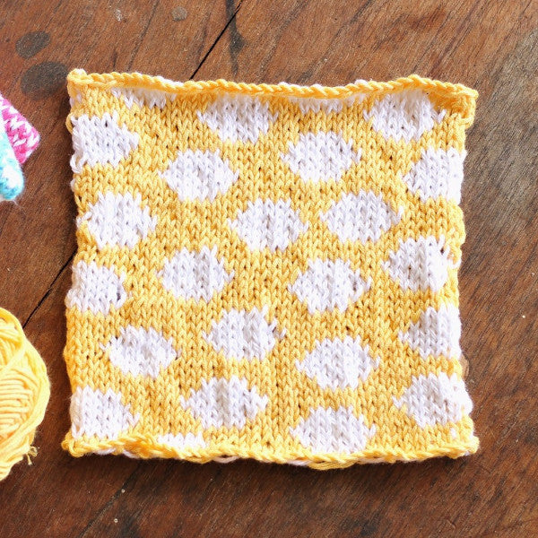 PDF Knitting Pattern - Sunshine Spots Square - Instant Download