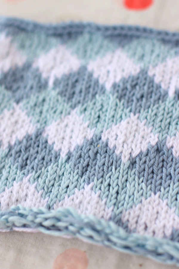 PDF Knitting Pattern - Set of 3 Fair Isle Blocks- Instant Download